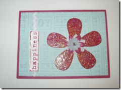 Card - bling flower