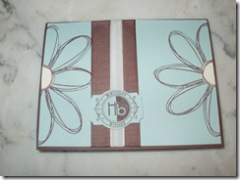 Card - blue and brown pick a petal
