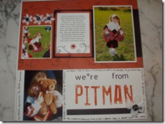 Cheerleading Scrapbook Page
