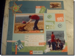 Andrew and Daisy scrapbook page