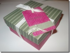 Christmas box with tag