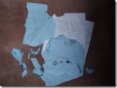 Dog ate his homework