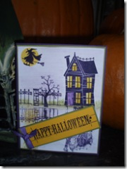 Reflective halloween card