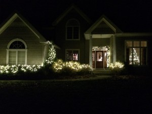 Home with lights